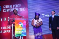 Nigerian Bishop honored at Global Peace Convention