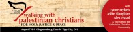 Walking with Palestinian Christians Conference taking place August 7-8