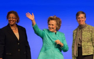 Hillary Clinton: 'Time to roll up our sleeves, make it happen'