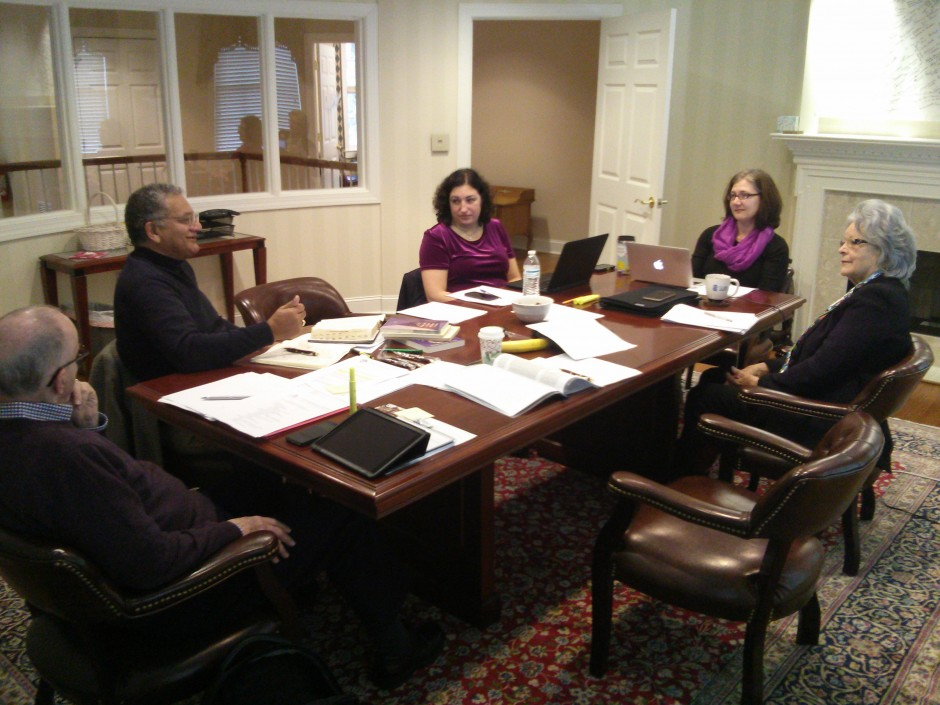 World Methodist Conference Planning Team meets in North Carolina, USA. Picture are: General Secretary Ivan Abrahams, Kirby Hickey (CFO/Treasurer), Elizabeth Redman (UpperRoom), Barby Bowser (WMC Staff), and Jackie Bolden (WMC Staff). Not pictured are: John Thomas (Youth and Young Adult Coordinator) and Susan Gaddy (WMC Staff)