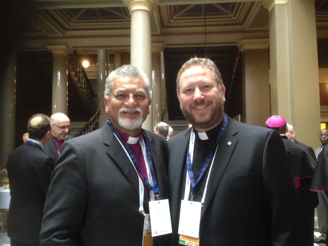 General Secretary Ivan Abrahams and Rev. Lasse Svensson (President of the Uniting Church in Sweden) a the Conference of Secretaries of Christian World Communions in London, U.K.