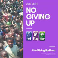WesleyMen offer #NoGivingUp4Lent program to end world hunger