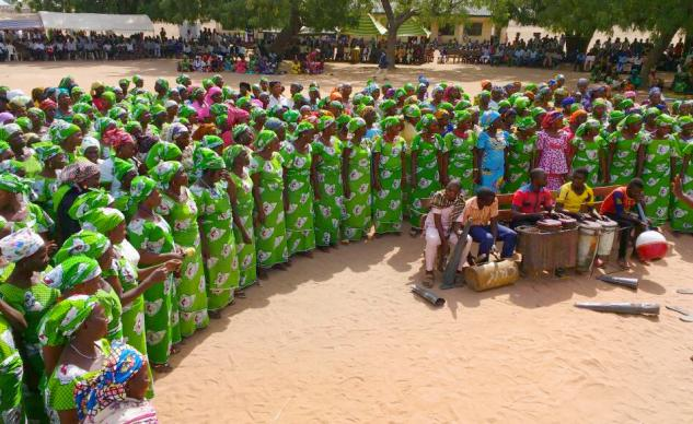 United Methodist Women offer songs during the March 19 inauguration of the new North East Nigeria Annual Conference. Photo by Richard Fidelis